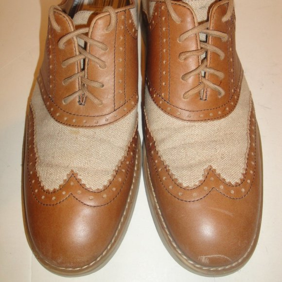 Johnston & Murphy Brown Canvas Oxford WITH TAG